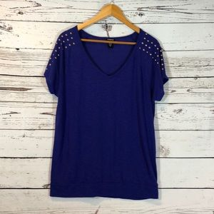 Torrid Purple Short Sleeve Tee size 0